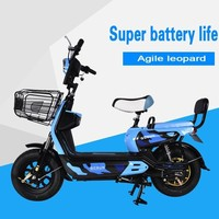 Electric Power Bicycle Mini Electric Power Motorcycle 48v A Storage Battery Car Adult Two Round Electric Vehicle T60