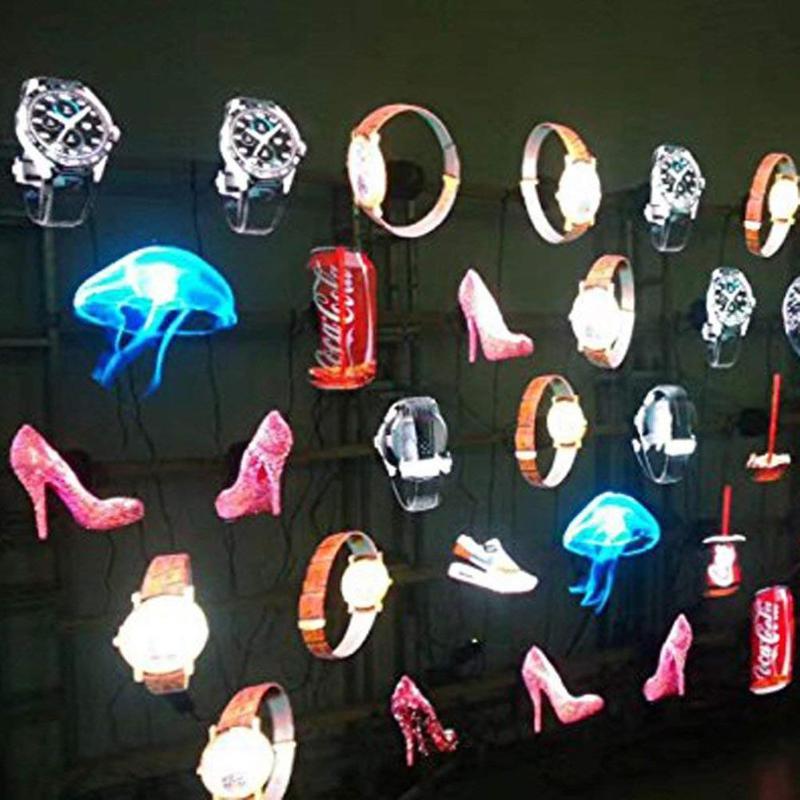 42 cm 3D hologramme projecteur lampe LED holographique publicité affichage ventilateur lumière avec 8 GB carte mémoire publicité lampe - 6