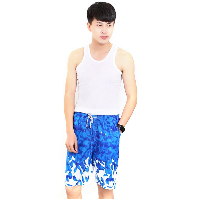 New Anti sweat Men 39 s Beach Shorts Casual Loose Floral Shorts Quick Dry Surfing Beach Pants For Swim Vacation Water Activities in Surfing amp Beach Shorts from Sports amp Entertainment