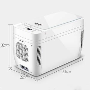 Image 5 - 11L Mini รถบ้านใช้ Dual   core ตู้เย็นแบบพกพา Low Noise Car ตู้เย็นตู้แช่แข็ง Cooling ตู้เย็น DC 12 V 220 V