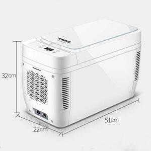 Image 5 - 11L Mini Home Car Use Dual core Refrigerators Portable Low Noise Car Refrigerators Freezer Cooling Box Fridge DC 12V 220V