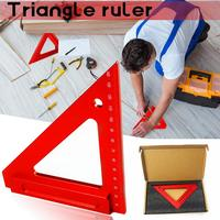 Aluminum Alloy Triangle Ruler Woodworking Triangle Ruler Square Ruler Woodworking Measurement Aids Measuring Tool