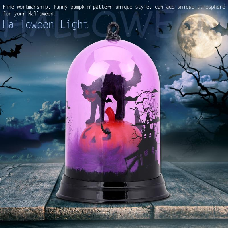 LED Night Light  Luces Led Decoracion Halloween Pumpkin Color Flash Light Lamp For Halloween Holiday Party Festival Decoration