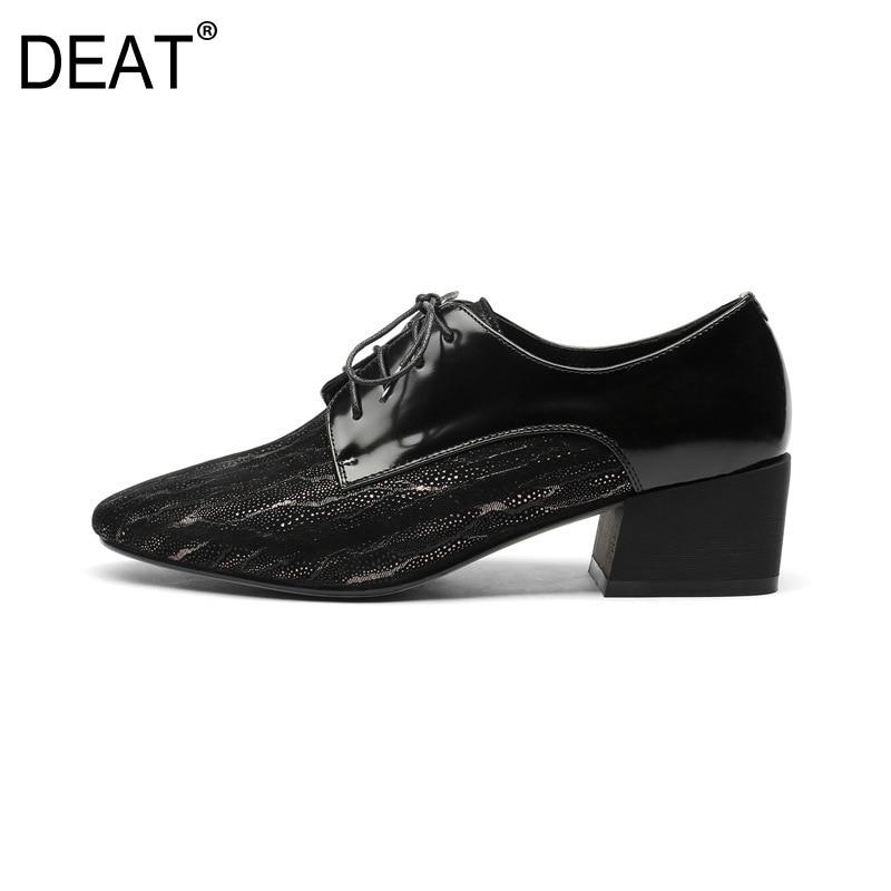 6330be24c91 Lacets Brevet Chaussures deat Nouveau Taille Tide10sj289 Mode 2019 Talons  Femmes Black En 42 D été ...