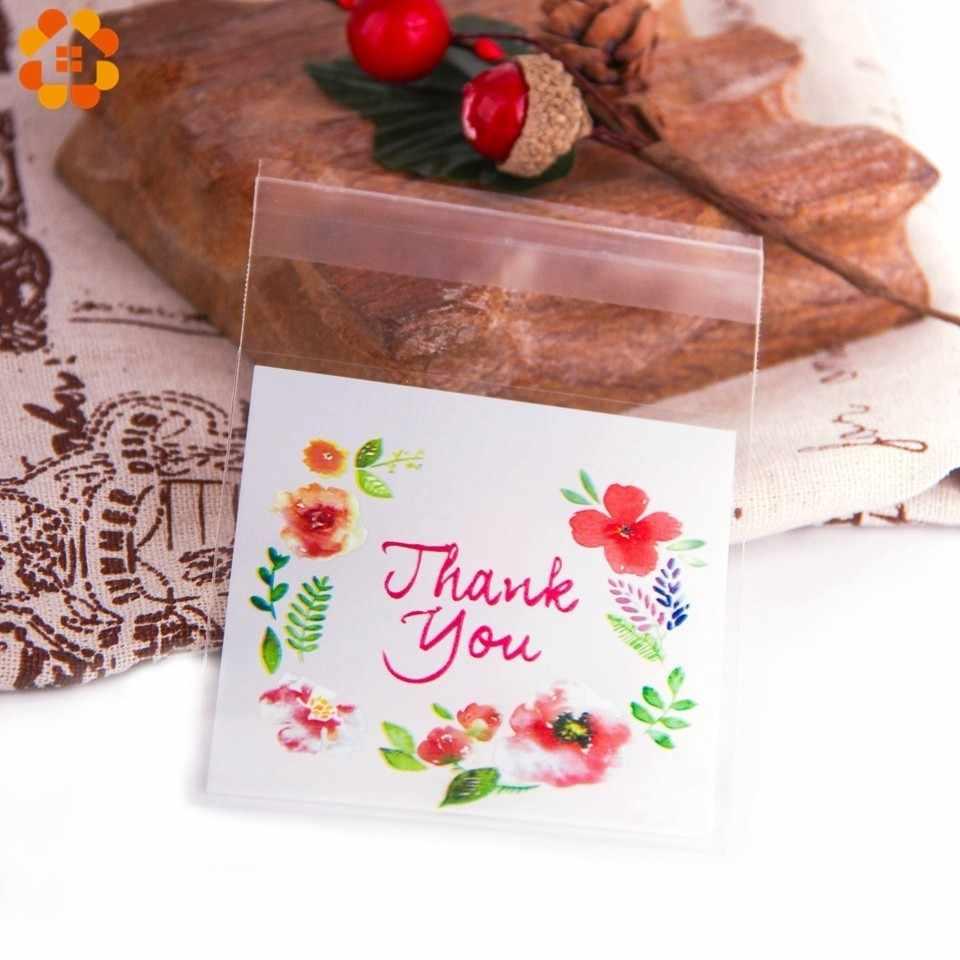 50/100 PCS Cảm Ơn bạn Kẹo & Cookie Túi Nhựa Tự Dính Cho DIY Gói Bánh Snack Nướng wedding Party Trang Trí Nội Thất Nguồn Cung Cấp