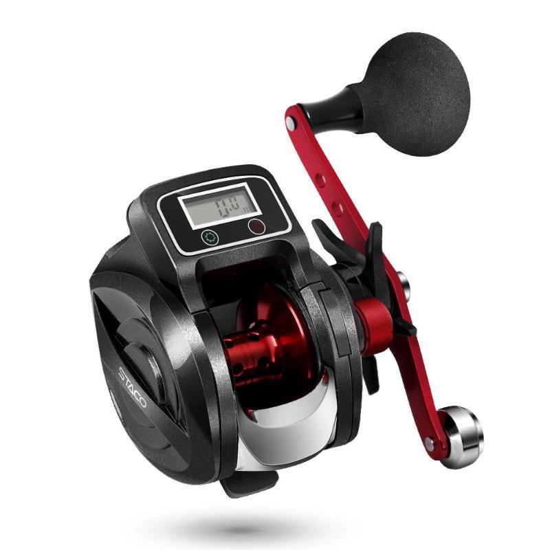 Digital Fishing Reel Water Drop Wheel High strength Metal Count Right Hand Bait Casting Fishing Reel