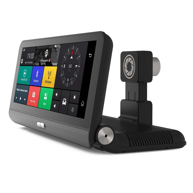 8 pouces écran tactile 1080 P Tableau de Bord Pliant 4G dvr de voiture Wifi système de navigation gps bluetooth Double Lentille Enregistreur 781 Avec caméra arrière