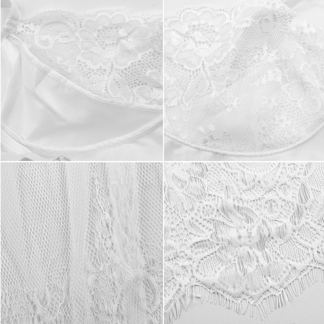 Sexy Women Erotic Plus Size Babydoll Dress Oversized Transparent Women Underwear Sexy Erotic White Lingerie For Sex 5XL 5