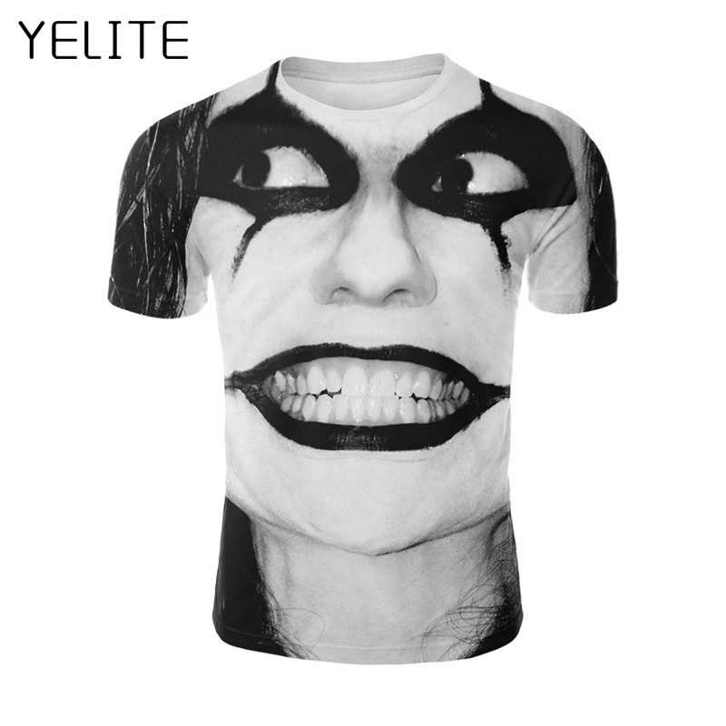 YELITE The Dark Knight 3D Printed T Shirt Women Joker Face Casual O neck Male tshirt Clown Short Sleeve Cosplay Funny T shirts in T Shirts from Men 39 s Clothing