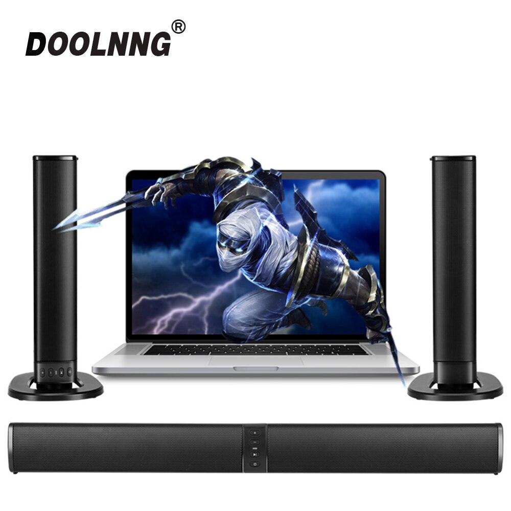 Doolnng 20 W abnehmbar Drahtlose Bluetooth Spalte Soundbar Stereo Tv Lautsprecher Heimkino Eingebaute Batterie Sound Bar Tf Usb Fm Phantasie Farben