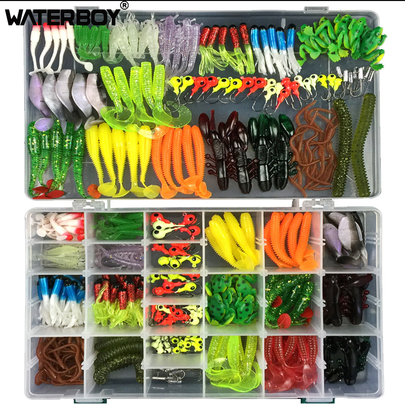 WATERBOY 316Pcs Artifical Fishing Lures Kit Set Storage Box Pesca Mixed Soft Bait Earthworm Maggot Frog Fish Lead jig head Hook 2016 new jig lures 40g 60g 80g 100g lead head jigs with single hook pesca accessories boat fishing enquipment page 4
