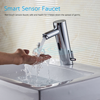 Bathroom Basin Faucet Sensor Automatic Sensor Touchless Faucet Bathroom Sink Faucet Noble Copper Sink Bathroom Fixtures