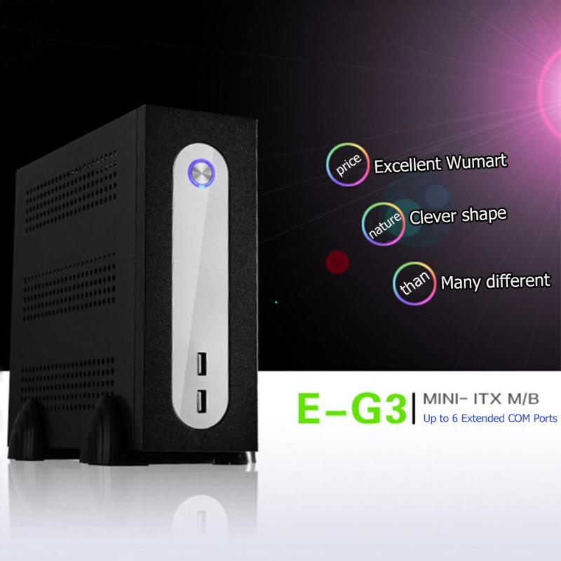E-G3 Mini ITX Server Tower 6xCOM Port Embedded SGCC Computer Case PC Chassis for Universal Motherboard USB2.0 COM holes