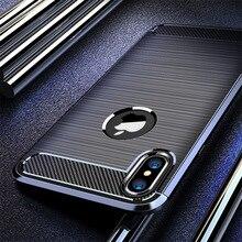 Чехол из углеродного волокна для iPhone 6 6S Plus 5 5S SE силиконовый защитный чехол для iPhone 11 Pro Max X XR XS Max 7 8 Plus Fundas