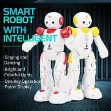 LEORY Remote Control Robot Toy Smart Child RC Robot With Sing Dance Action Figure Program Gesture Toys ForKid Christmas gift(China)