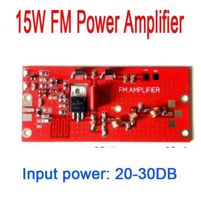 DYKB 15 W RF amplificateur de puissance FM 76 MHZ-108 MHZ FM module amplificateur de puissance Campus radio de diffusion rurale DC 12 V