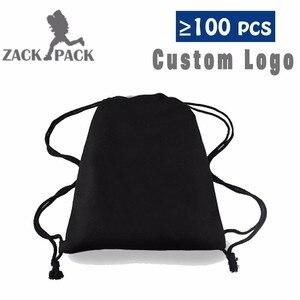 Zackpack الرباط على ظهره طالب الرياضية حقيبة رباط قطن صغيرة على ظهره الطباعة شعار مخصص DB33