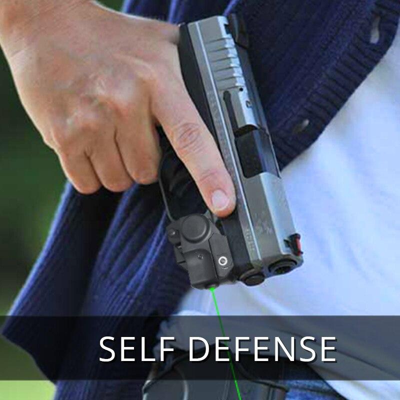 20mm Adjustable Green Dot Laser Sight For Railed Pistol Glock 17 19 22 Air-gun Rifle Hunting Accessories Compact Lazer Beam