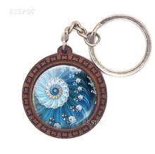 Vivid Image of Flowers, Cute Birds and Pandas Pattern Gem Stone Wooden Keychains for Promoion pandas and people