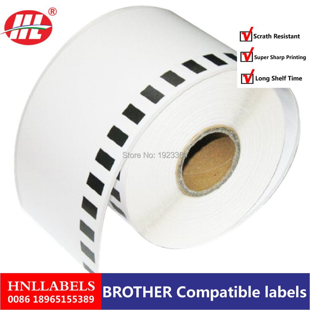 100x Rolls Brother Compatible Labels Barcode Sticker Dk-22205 Dk 22205 Dk22205