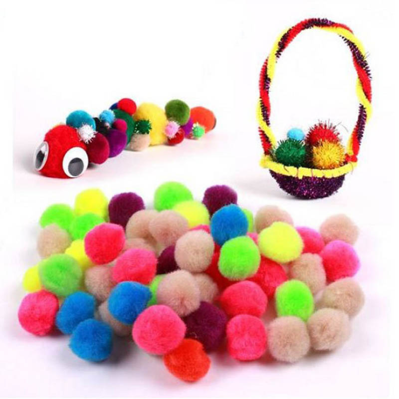 Fluffy Plush Party Wedding Decoration Soft Pompones DIY Craft Supplies Sewing Accessories Tools Christmas Gift Plush Ball