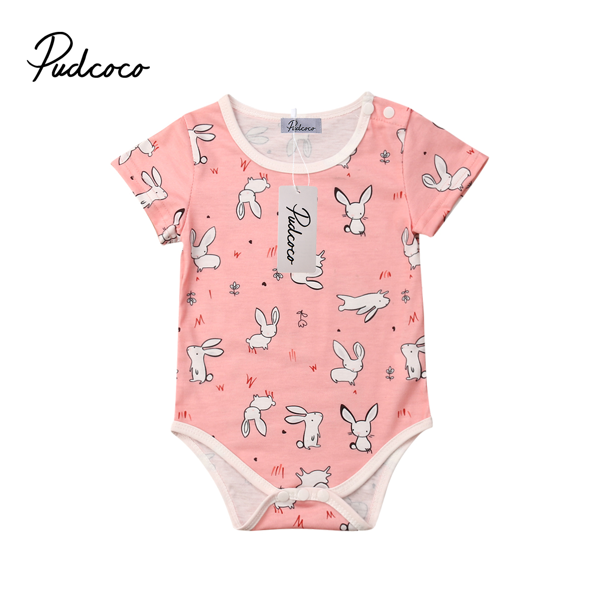 Kids Baby Girl Boy Clothes Deer Print Bodysuit Romper Outfits Sunsuit Costume