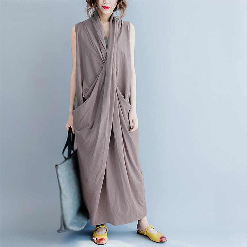 Женское летнее праздничное повседневное Макси длинное платье женское свободное с v-образным вырезом свободное нарядное платье
