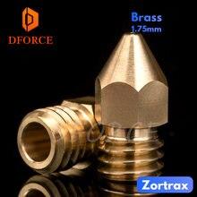 Dforce супер высокое качество zortrax Латунное сопло для hotend