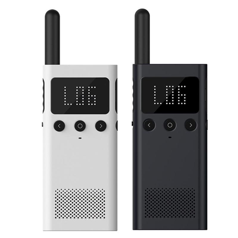 Xiaomi Mijia 1 S talkie-walkie intelligent avec haut-parleur Radio FM Smartphone emplacement partager soutien 3.5mm Bluetooth écouteur casque