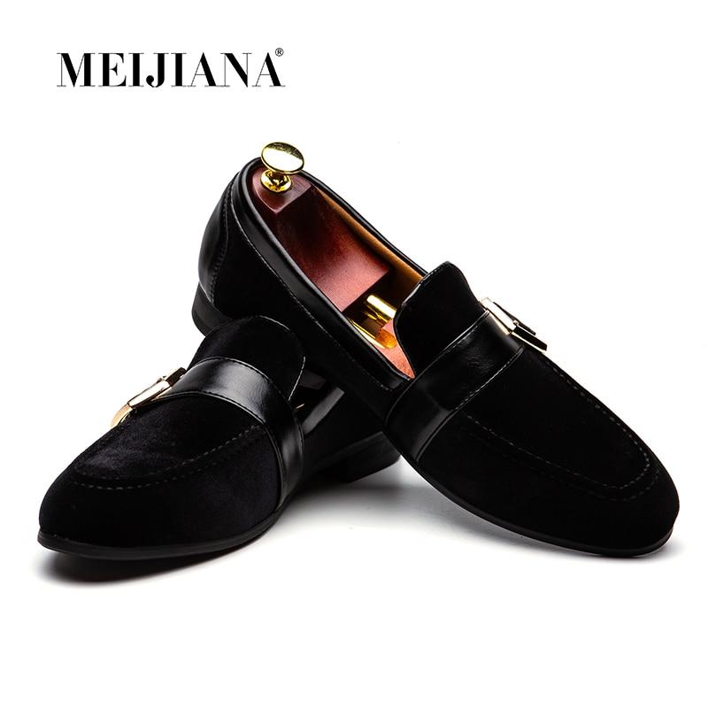 Meijian 2019 슬립 온 남성 신발 캐주얼 보트 로퍼 남성 로퍼 가죽 남성 신발 패션 브랜드 남성 신발 무료 배송-에서남성용 캐주얼 신발부터 신발 의  그룹 1