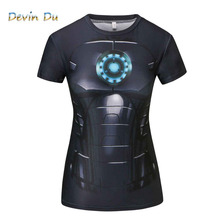 T-Shirt Captain America Civil War Tee 3D Printed T-shirts Women Marvel Avengers Short Sleeve Fitness Clothing dropship