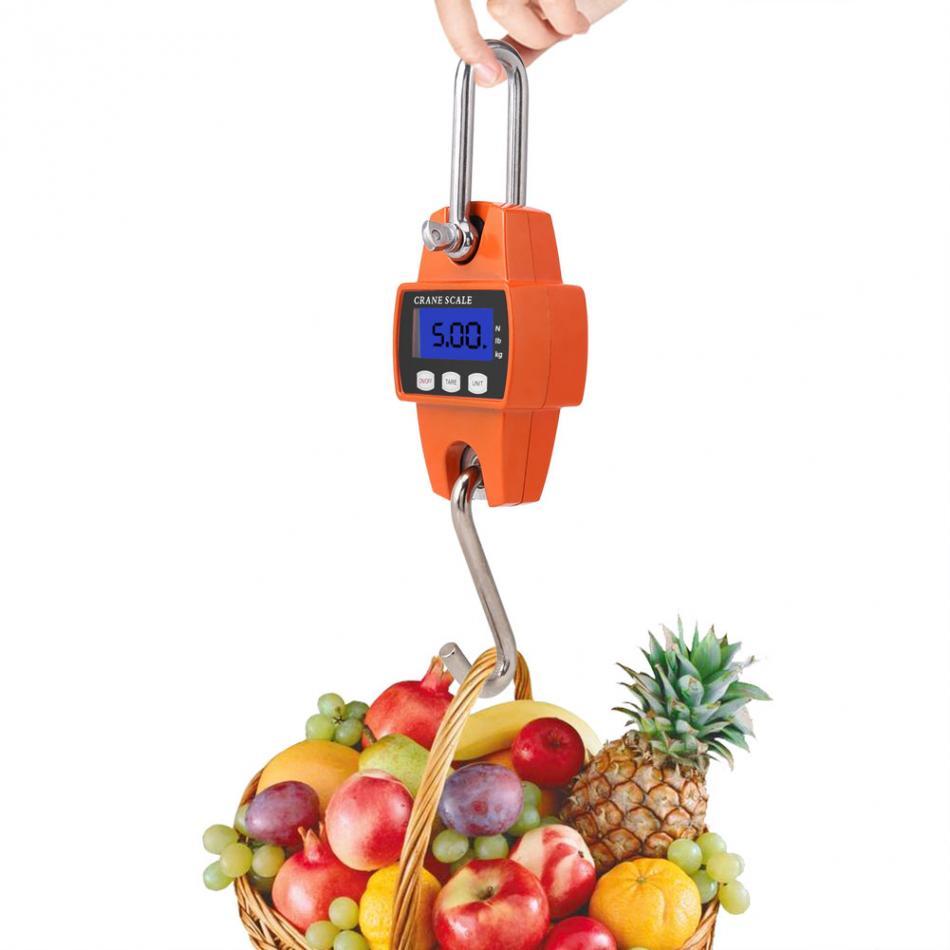 Balance suspendue précise Portable LCD numérique électronique Mini balance suspendue 300 kg avec outil à crochet