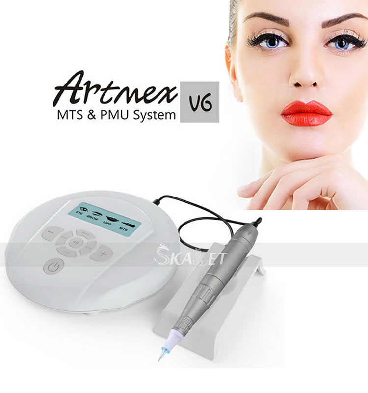 Smart System Pedal Technology Pen Machine Tattoo Artmex V6  Permanent Makeup Machine