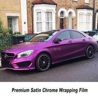 Премиум фокус на высокого класса сатин хром фиолетовый винил обертывание автомобиля пленка оберточная для автомобиля укладки различных цв