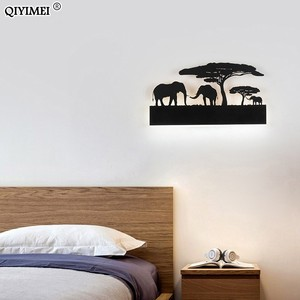 Image 5 - Romantic Wall lamps acrylic lampshade lighting fixture upside warm down cool for living room bedside Animal lights AC110 260V