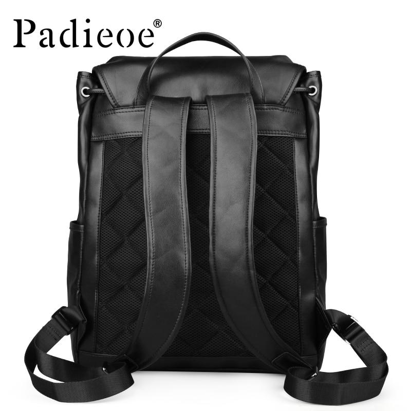 Dos Pour Véritable D'ordinateur Bookbag Hommes Portable Homme Luxe À Bagages Cuir Collège Étanche Sac Padieoe De En Voyage Mode qtfXw
