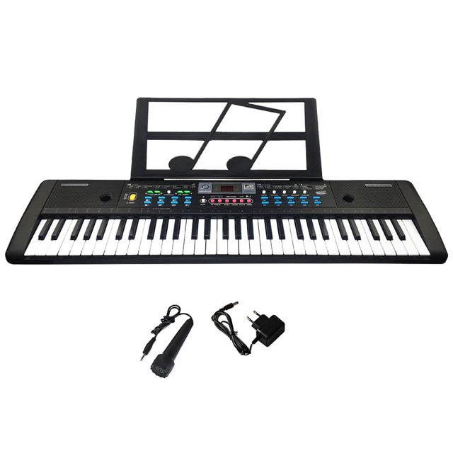 61 Keys Digital Electronic Keyboard And Microphone Electric Led Music 1