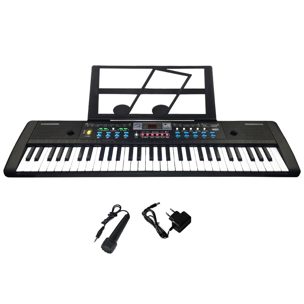 61 teclas teclado electrónico Digital y micrófono eléctrico Led música - 2