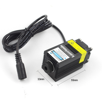 Blue 450nm 5.5w Laser module for engraving/marking/cutting with PWM/TTL focusable