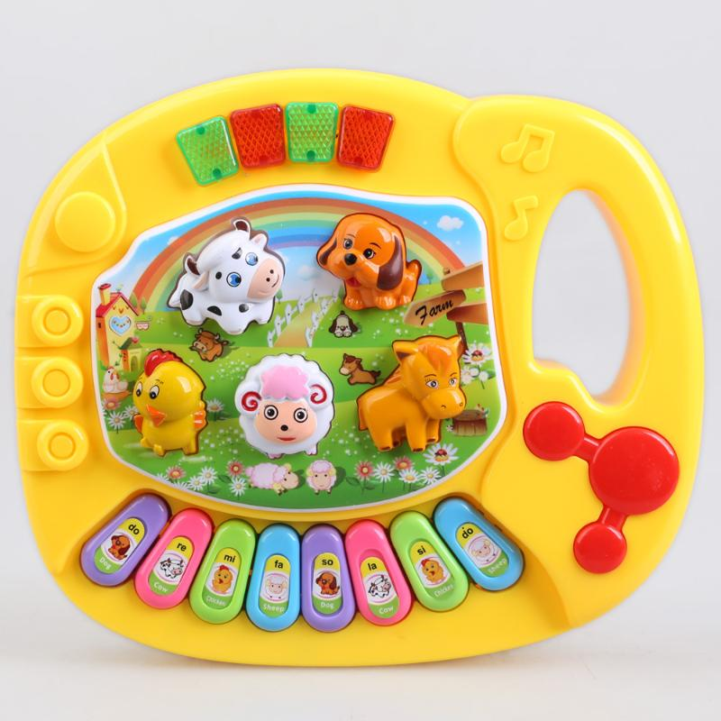 Baby Piano Musical Toys for Children Kids Musical Educational Piano Cartoon Animal Farm Developmental Baby Toy Toys Random Color(China)