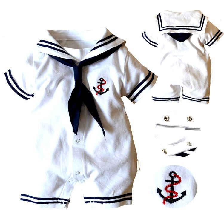 2019 ropa de bebé niño bebé ancla Pelele de marinero mono trajes nueva ropa