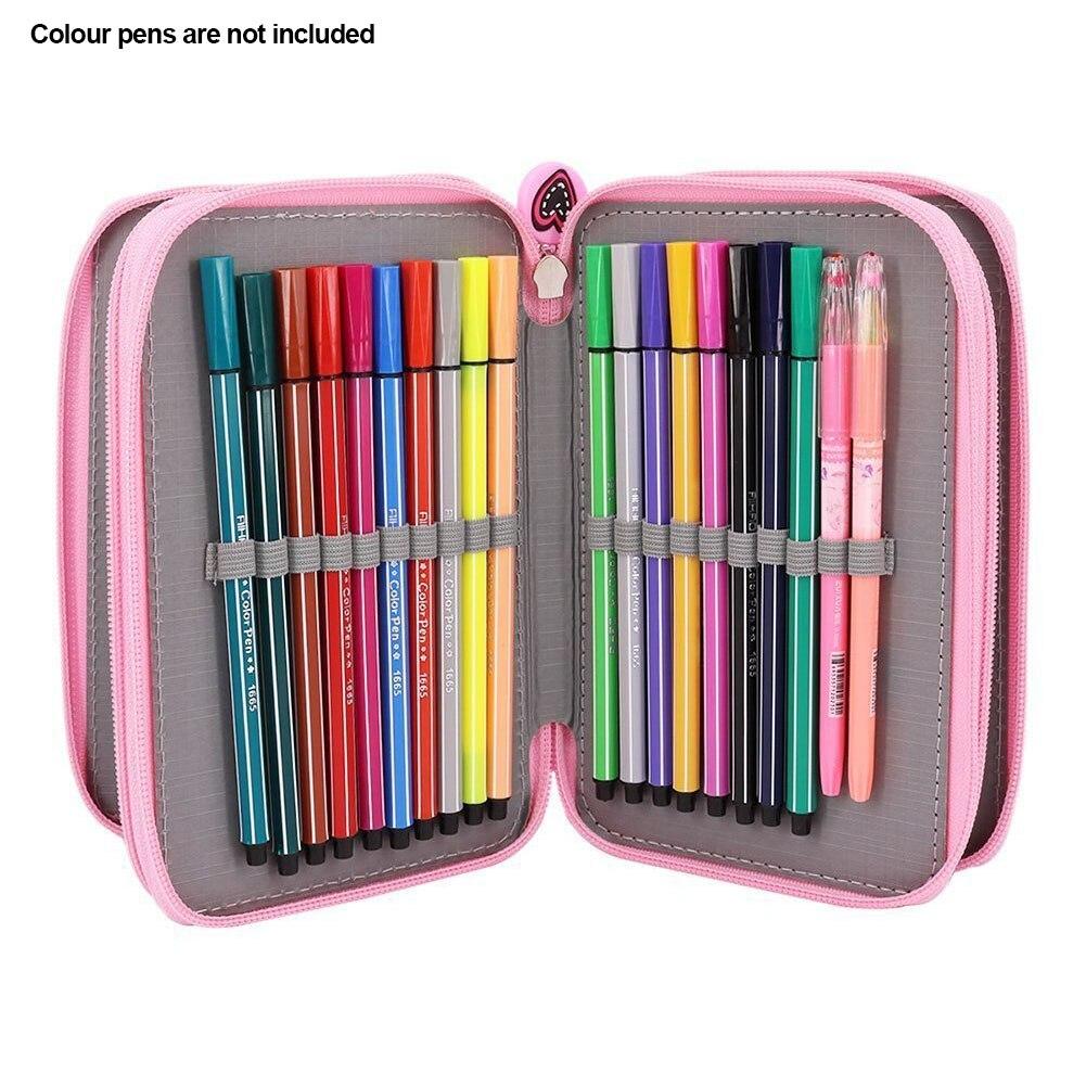 Storage Pouch Box School Supply Cute Pen Case Oxford Stationery Sketch Pencil Bag 52 Holes 3th Floor #4
