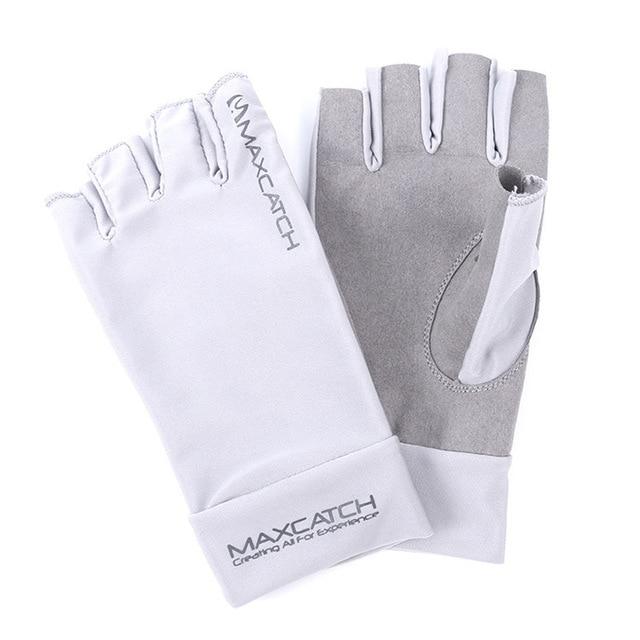 Cheap 1Pair Men Half Finger Fishing Gloves Tackle Anti-slip Outdoor Sports Fishing Equipment Pesca