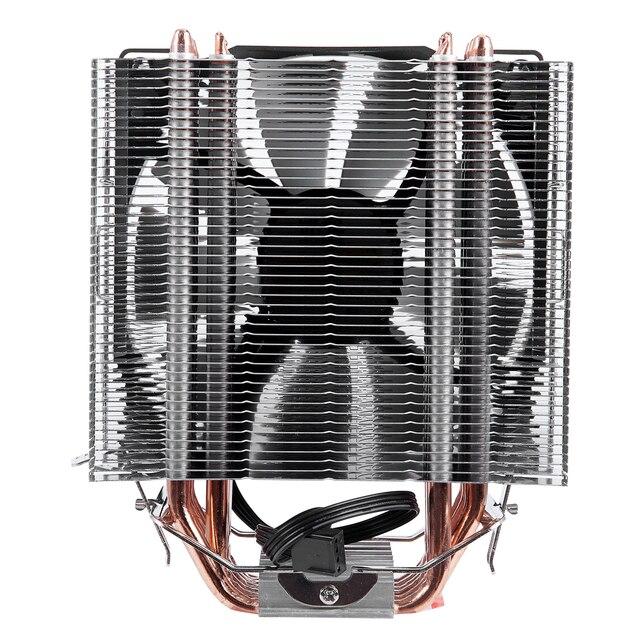 SNOWMAN 4 PIN CPU cooler 6 heatpipe Single/Double fan cooling 12 cm fan LGA775 1151 115x 1366 support Intel AMD 2