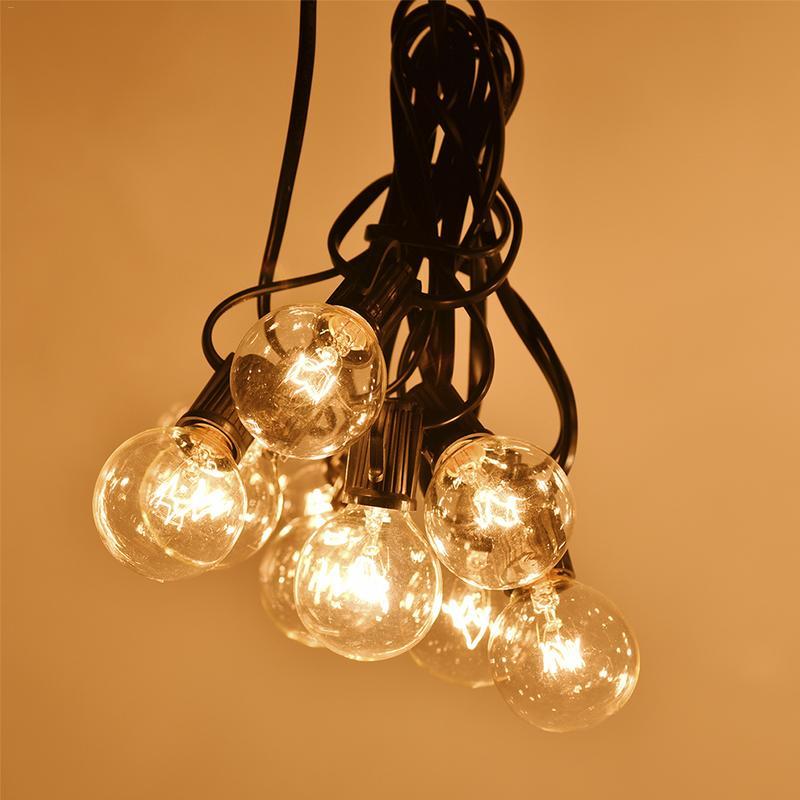 100 LED Decorative String Lights Outdoor Plug in String Globe String Lights