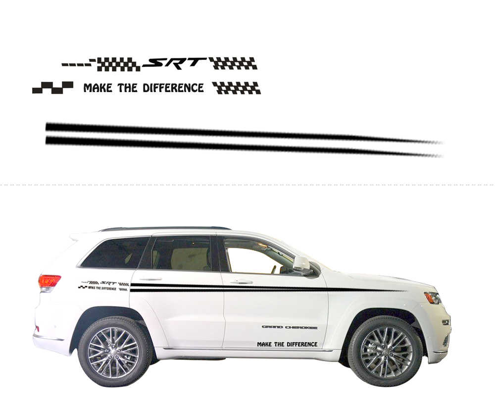 Car side body decal stickers for jeep grand cherokee srt hatchback sedan suv diy decoration custom