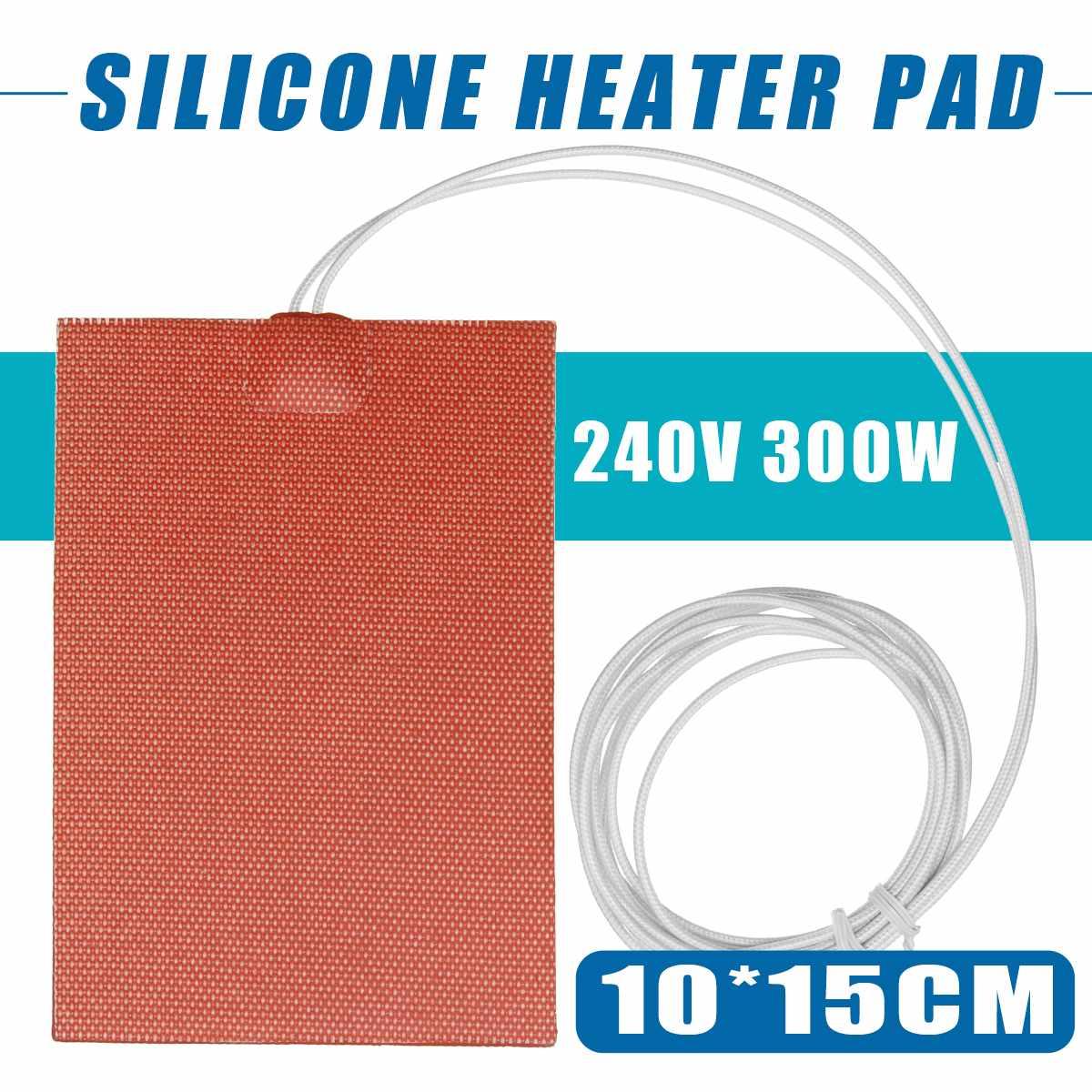 100X150mm 300W 240V силиконовый нагреватель двигателя блок масляный поддон гидравлический бак нагревательная пластина Нагреватель Pad/мат w/3 PSA