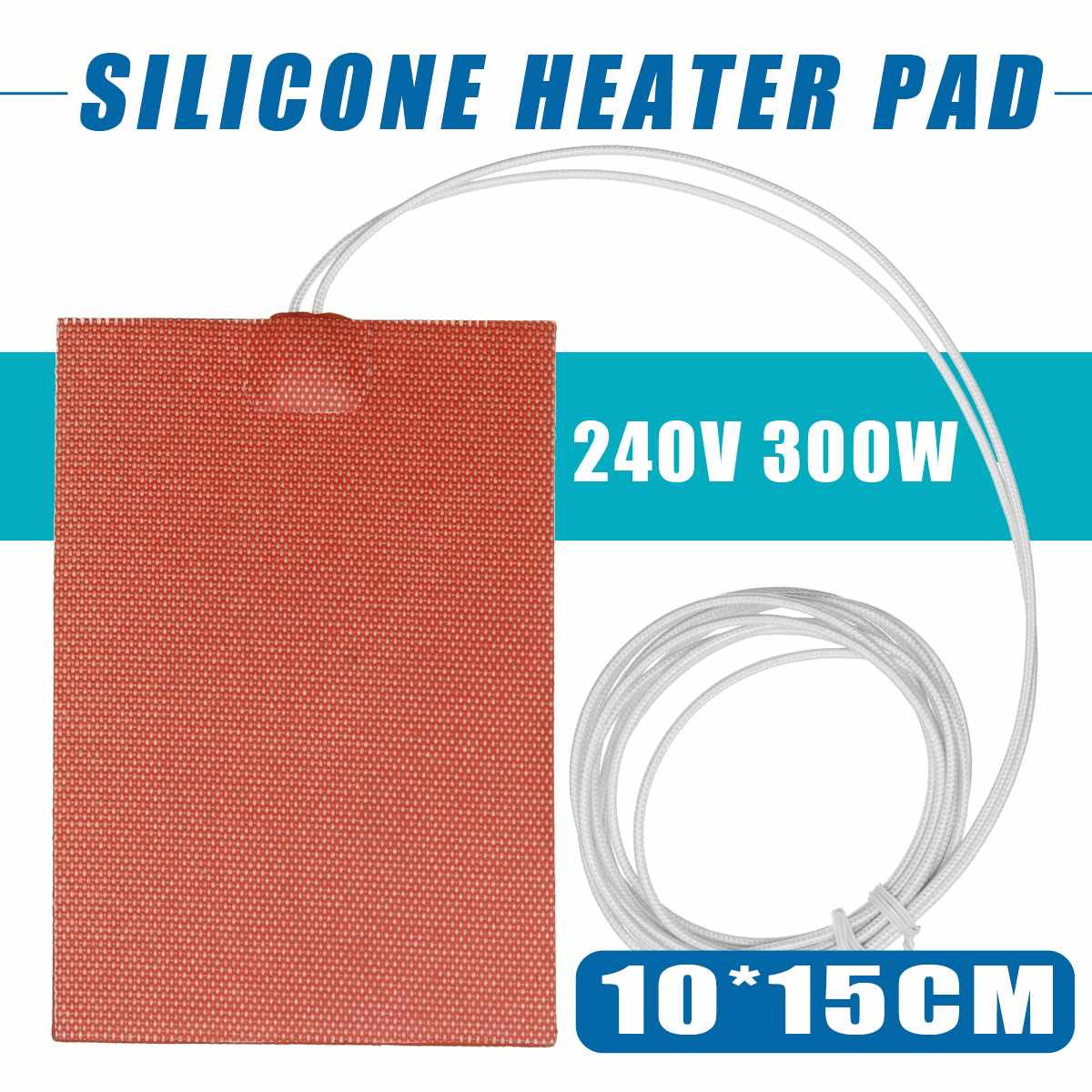 100X150mm 300W 240V Silicone Heater Engine Block Oil Pan Hydraulic Tank Heating Plate Heater Pad/Mat W/3 PSA