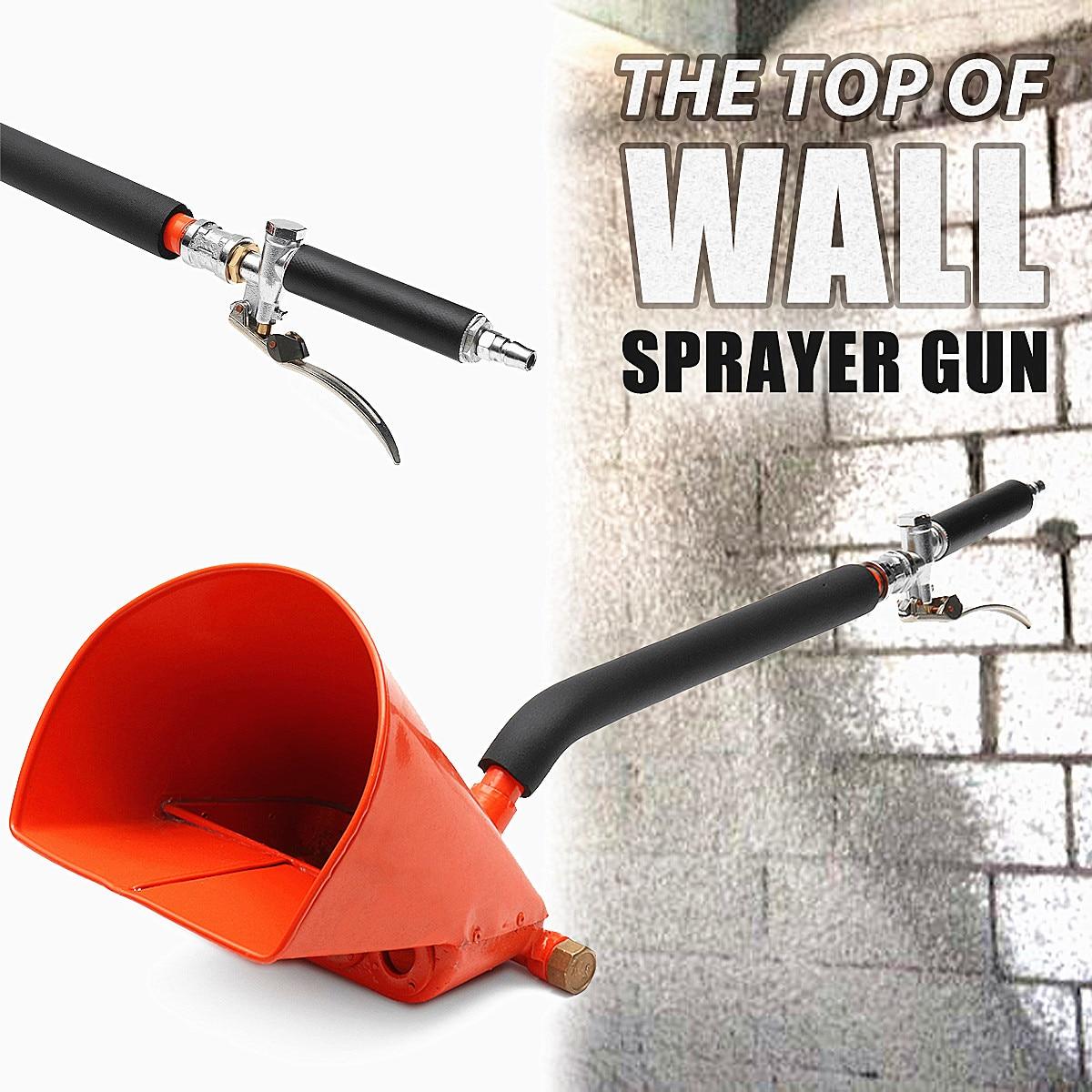купить 4 Jets Stucco Shovel Hopper Ladle Cement Spray Guns Plaster Hopper Sprayer Air Stucco Sprayer Mortar Sprayer Wall Mortar Guns онлайн