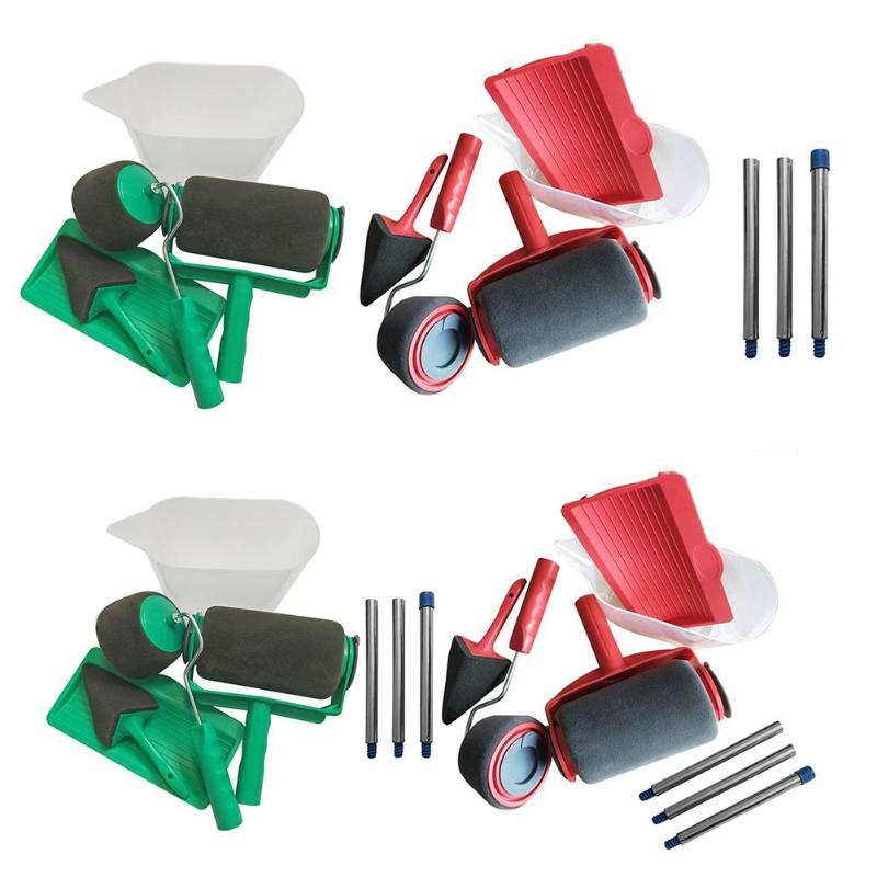 5 Pcs/Set Paint Runner Pro Roller Brush Flocked Edger Office Room Wall Painting Home Tool Roller Paint Brush Set Dropshipping